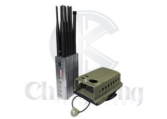 China Portable Mobile Phone Signal Jamming Device With Bigger Hot Sink And Battery Lojack supplier