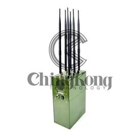 China Mini Manpack UAV Drone Signal Jammer Green Middle Power CE Certification supplier