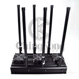 China CDMA GSM 3G 4G Manpack Jammer Black Cell Phone Signal Scrambler AC110-240V supplier