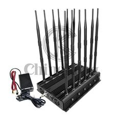 China Multifunction 12 Antennas Mobile Phone Jamming Device For 3g 4g Wifi Gps Lojack supplier