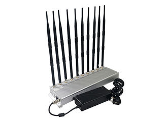 China 10 Bands 5G Signal Jamming Device Mobile Phone WIFI Shielding 2-30m Radius Range supplier