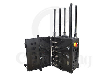China Portable Military Convoy Bomb Jammer Output Power 300W 4GLTE Cell Phone Signal Interrupter factory