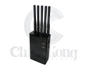 China 5 Bands Portable Handheld Signal Jammer Built - In Battery For 4G LTE Cellphone factory