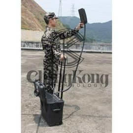 China Black Draw Bar Box Jammer 220W Drone UAV Blocker Jamming Up To 1000m factory
