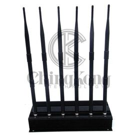 China 6 Antennas Cell Phone Disruptor Jammer Portable Cellphone Signal Jammer factory