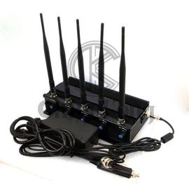 China WIFI GPS Office Cell Phone Signal Jammer 2-40m Jam Radius Continous Running factory
