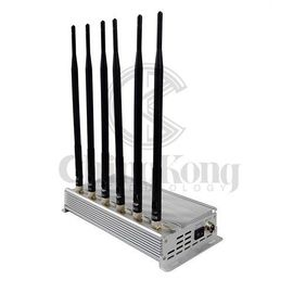 China 6 Channel Design Anti Cell Phone Signal Blocker High Output Power Continuous Working factory