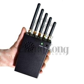 China Mini Handheld Signal Jammer Handheld Cell Phone Jammer With 5 Antennas factory