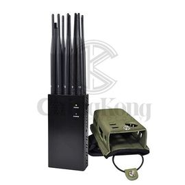 China 10 antennas Handheld Mobile Phone Jammer Wireless All In One Design block up to 20m factory