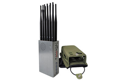 China 12 Antennas Hand Held Cell Phone Signal Blocker With Hot Sink And Battery factory