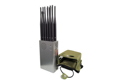 China 12 Antennas Handheld Signal Jammer All Bands Cellphone 4G/3G/2G GPSL1L2L3L4L5 Blocker factory