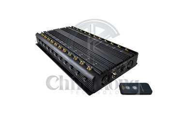 China 22 Channels Cell Phone Signal Jammer Full Bands 5GLTE 2G 3G 4G Wi-Fi GPS LOJACK factory
