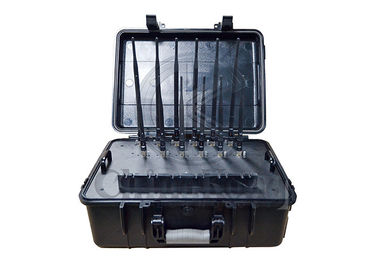China Handheld Suitcase High Power Signal Jammer 12 Bands For 2G/3G/4G LOJACK GPS WiFi factory