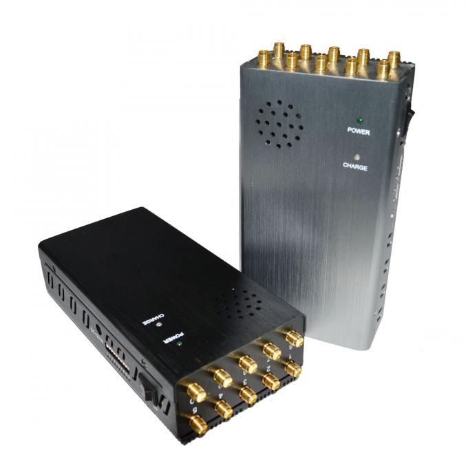 10 antennas Handheld Mobile Phone Jammer Wireless All In One Design block up to 20m