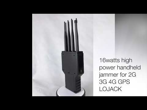 Handheld 5G Cell Phone Signal Jammer 16 Antennas Blocking Lojack WIFI GPS 3G 4GLTE